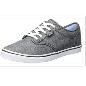 Vans Atwood Grey Chambray Low Profile Sneakers